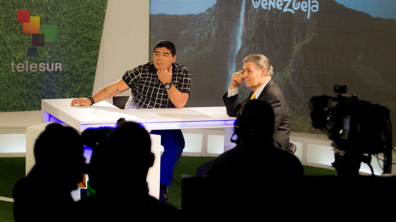 Maradona, en su programa 'De zurda'. (EFE)