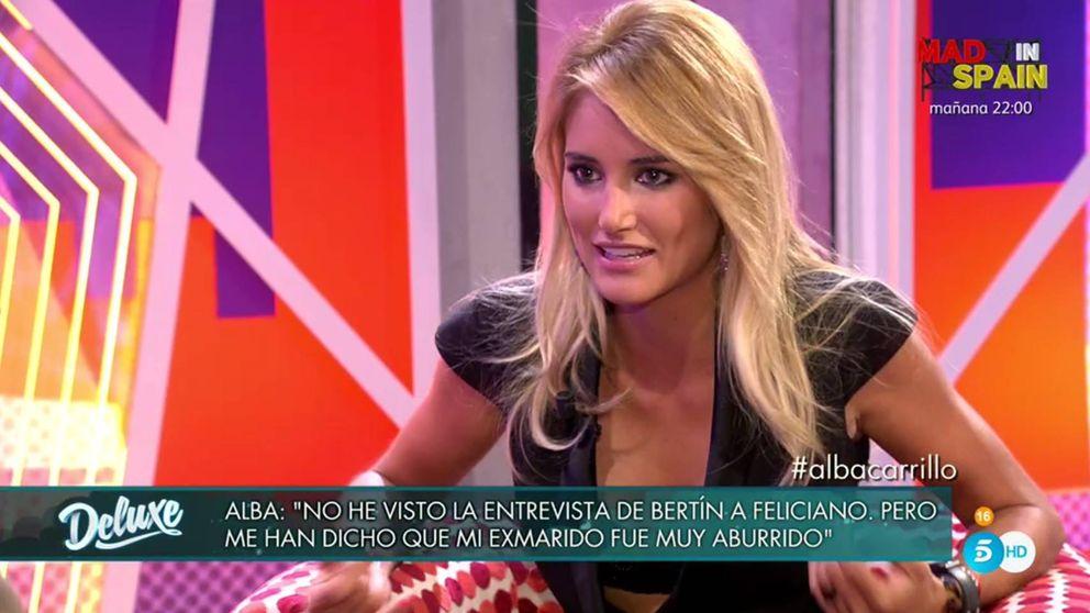 Alba Carrillo se mofa de Feliciano López en el 'Deluxe': Es muy guapo, pero es soporífero