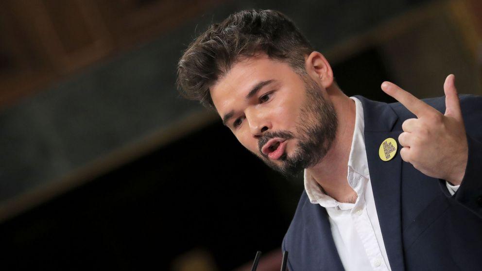 Rufián advierte a Sánchez: ERC es imprescindible para la gobernabilidad