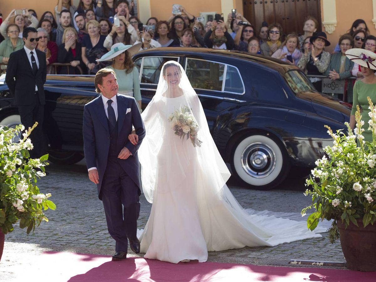 Foto: Eva González, el día de su boda. (Getty)