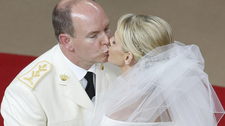Alberto y Charlène el día de su boda (Gtres)