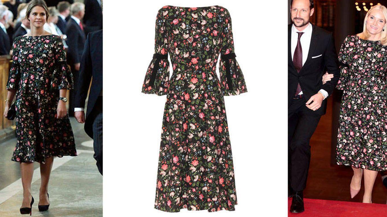 El vestido de 2.000 euros que 'comparten' Magdalena de Suecia y Mette-Marit de Noruega