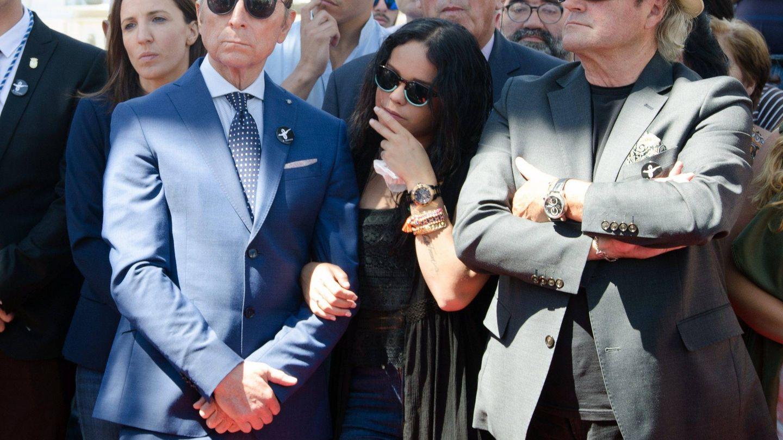 Amador, durante un homenaje a su hermana Rocío. (CP)