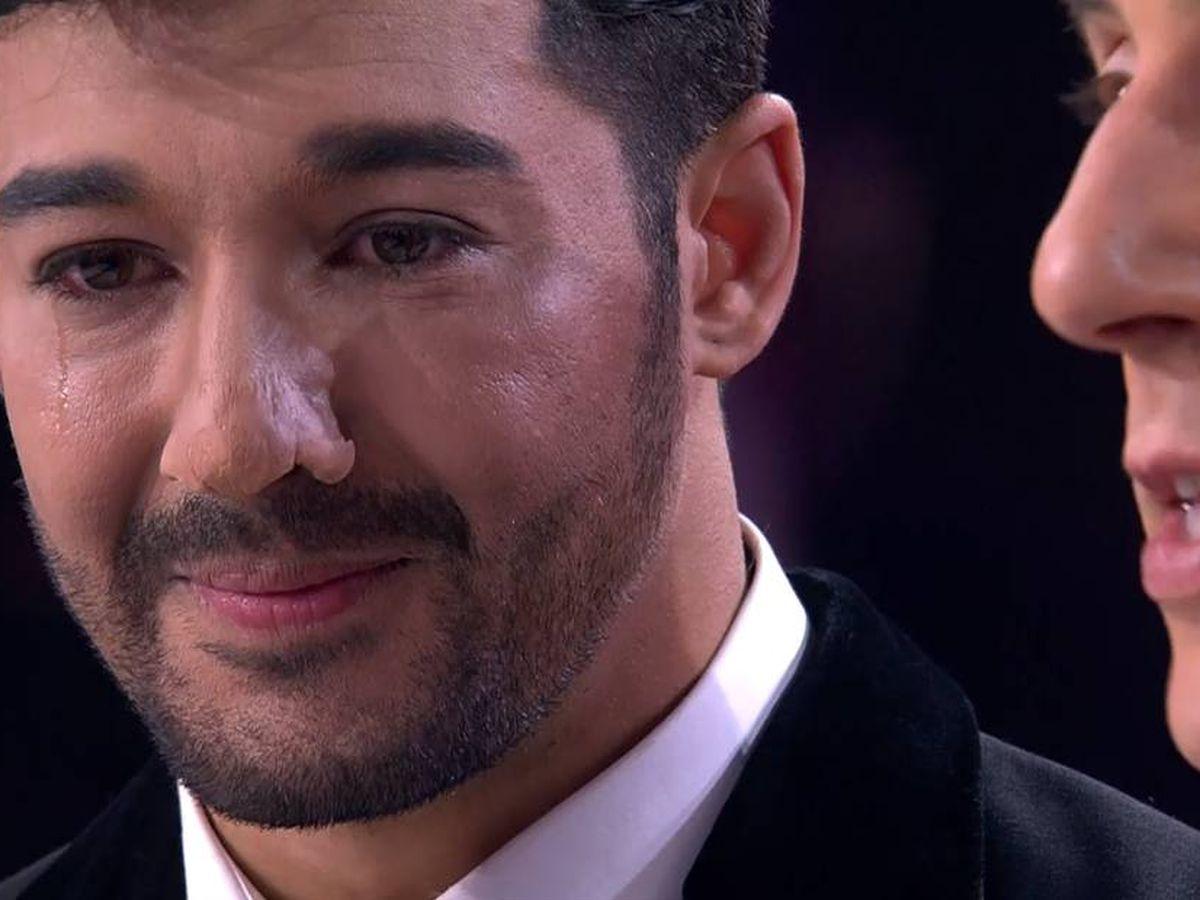 Foto: Jorge González, llorando en 'Tu cara me suena'. (Antena 3)