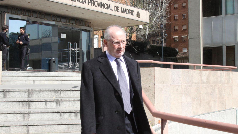 Foto: Rodrigo Rato saliendo de la Audiencia Provincial de Madrid (Gtres)