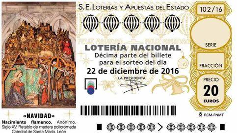 Así son los décimos de Lotería de Navidad de 2016: un retablo policromado de León