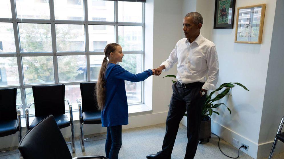 Foto: Barack Obama ha conocido a la activista sueca Greta Thunberg, de solo 16 años (Foto: Twitter)