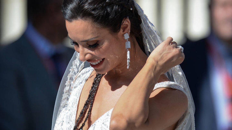 Pilar Rubio durante su boda en Sevilla. (Getty)
