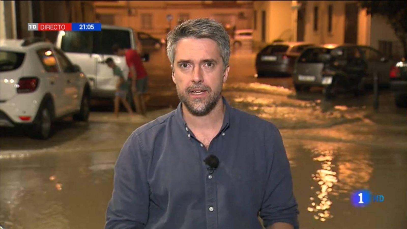 Foto: Carlos Franganillo, en 'El Telediario'. (TVE)