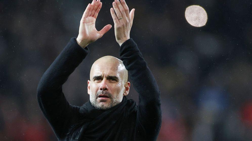 Foto: Pep Guardiola, el pasado 8 de marzo en el City-United. (Reuters)