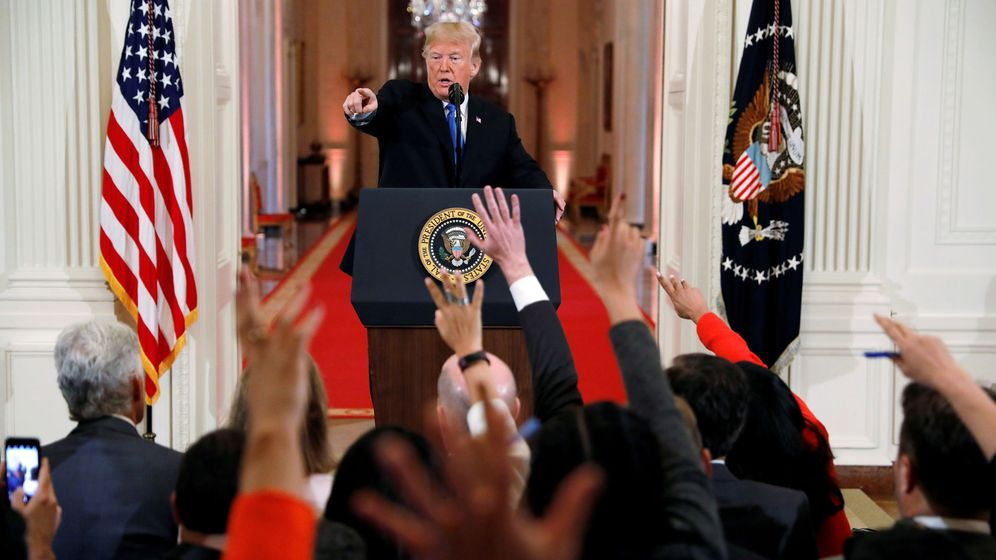 Foto: El presidente Donald Trump en una conferencia de prensa. (Reuters)