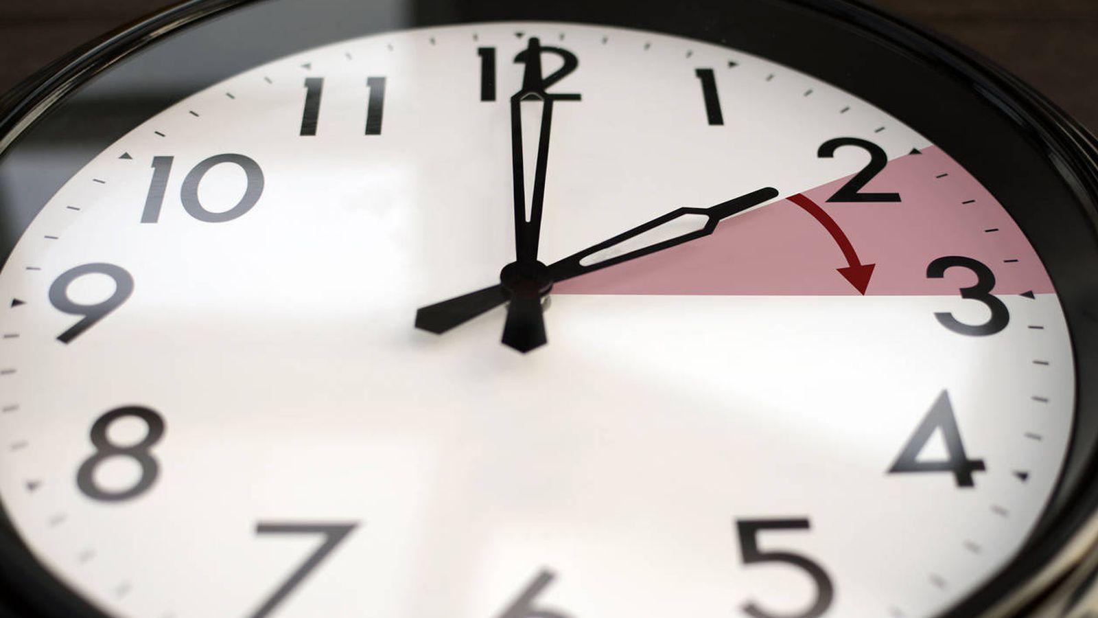 Foto: Un reloj marca el cambio de hora que dará paso al horario de verano. (iStock)