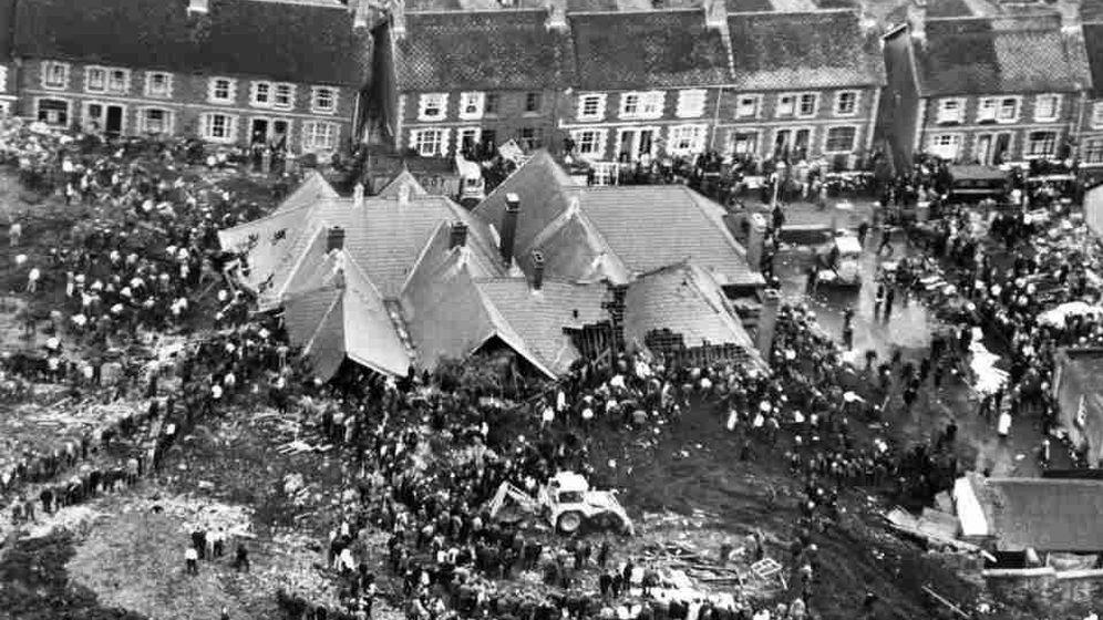 Foto: Catástrofe de Aberfan, en 1966.