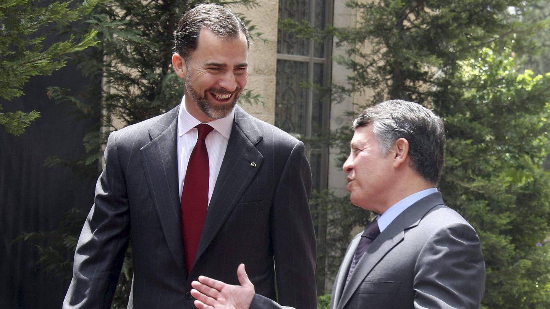 El Rey, en Jordania con Abdalá II. (EFE)
