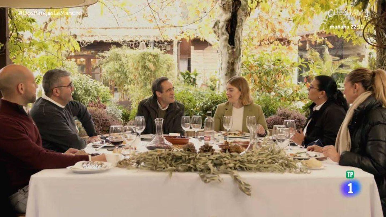 José Bono, en 'Dos parejas y un destino'. (RTVE)