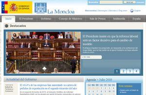 """Polémica en la Red por el """"uso partidista"""" que hace Moncloa de su cuenta de Twitter"""