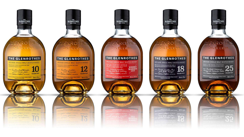 Foto: Imagen de los cinco whiskies de la colección 'The Soleo Collection'.