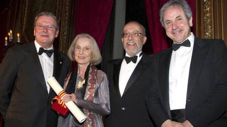Íñigo Ramírez de Haro (derecha), en los premios anuales de la Hispanic Society, en Nueva York. (EFE)