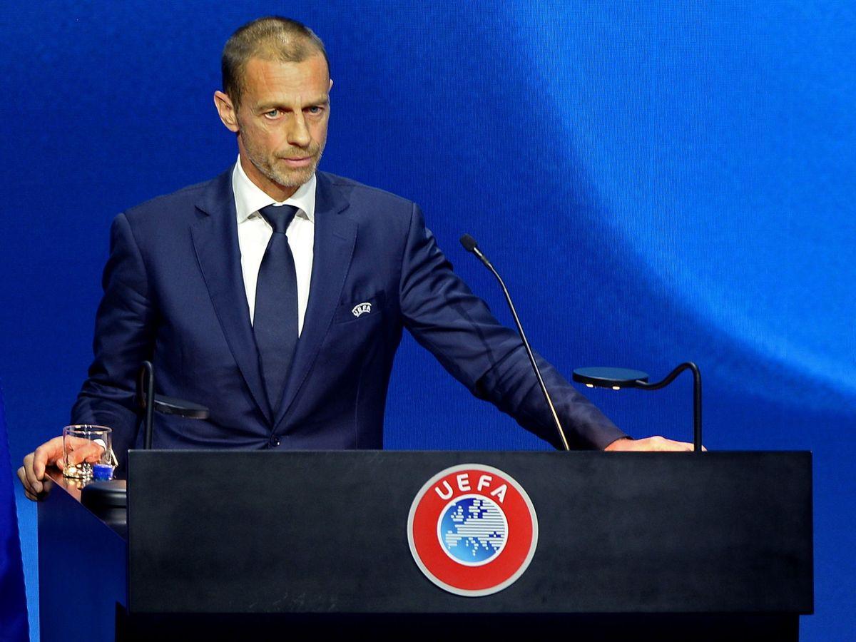 Foto: Aleksander Ceferin, en el congreso de la UEFA. (EFE)