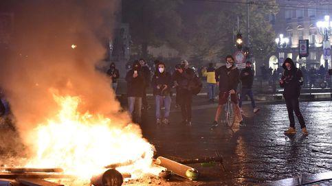 Decenas de detenidos y disturbios en varias ciudades italianas por el toque de queda
