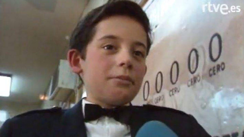 Javier Pereira, durante la entrevista con TVE.