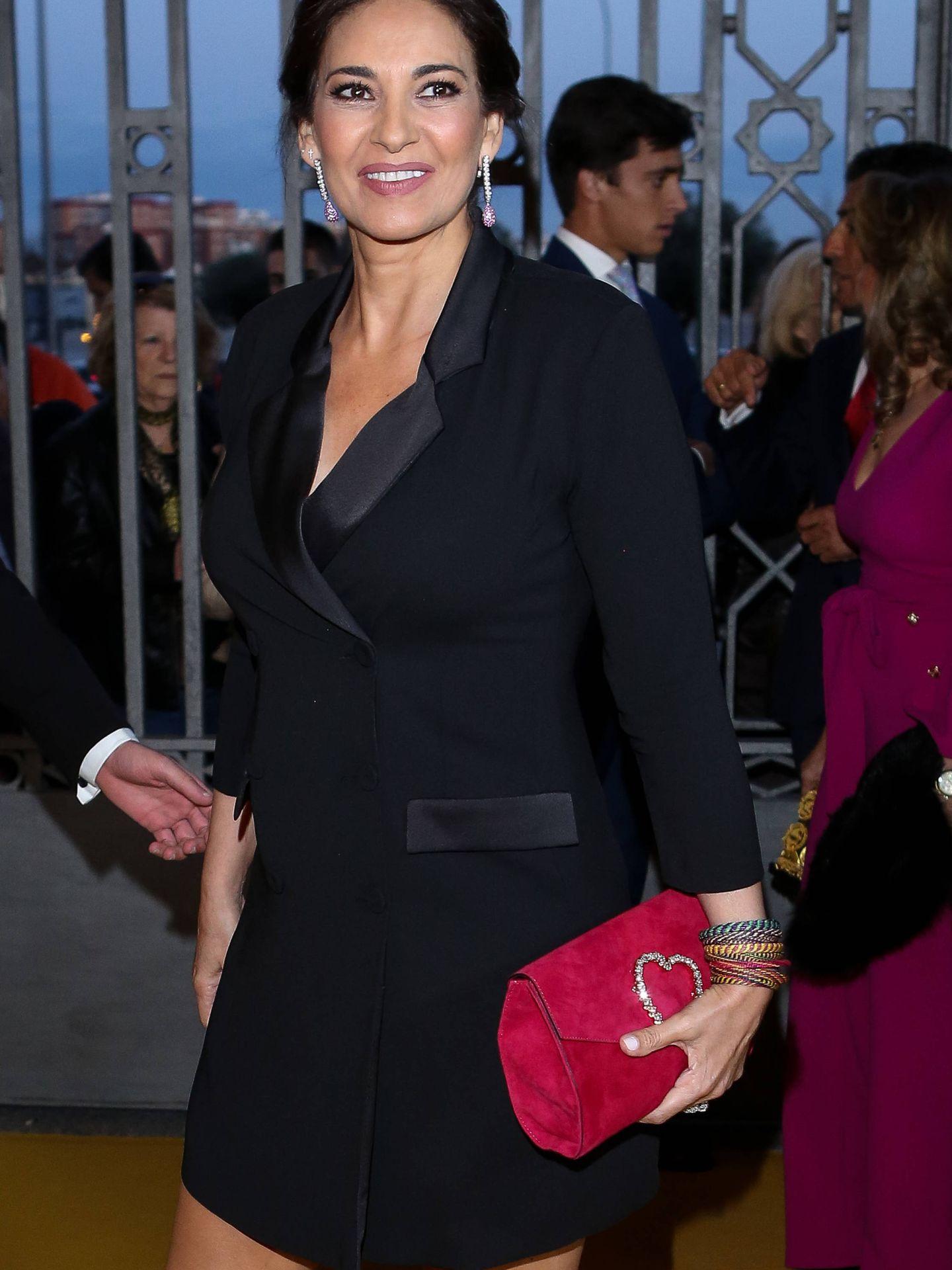 Mariló Montero con su vestido inspirado en Meghan Markle. (Getty)