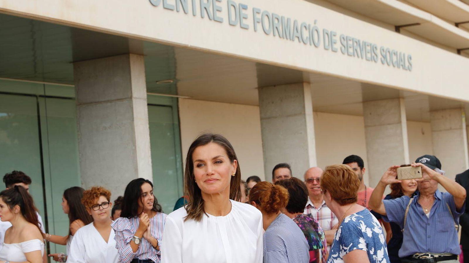 Foto: La reina Letizia en el acto. (Casa Real)