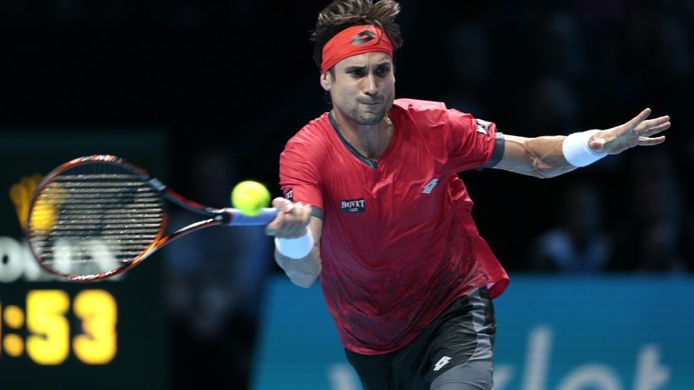 Foto: David Ferrer durante su partido contra Wawrinka (Reuters).