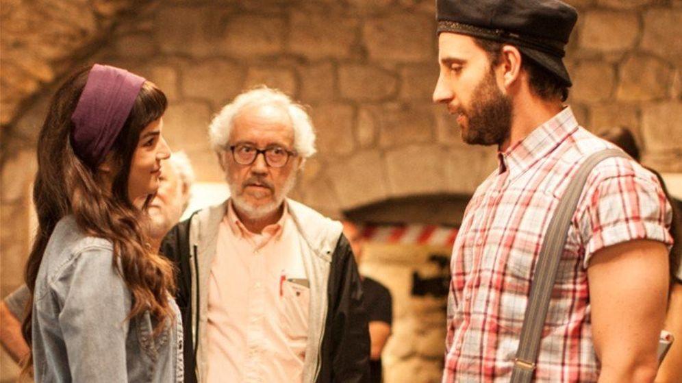 Foto: Clara Lago, Emilio Martínez Lázaro y Dani Rovira en el rodaje de 'Ocho apellidos catalanes'