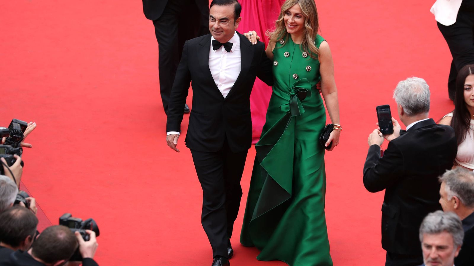 Foto: Carlos y Carole Ghosn. (Getty)