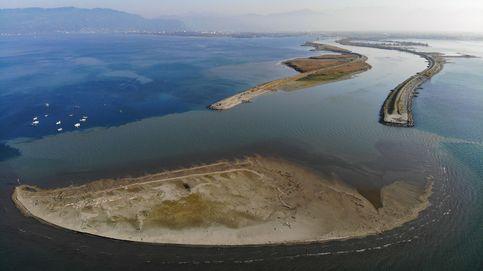 Islote de arena en el lago de Constanza
