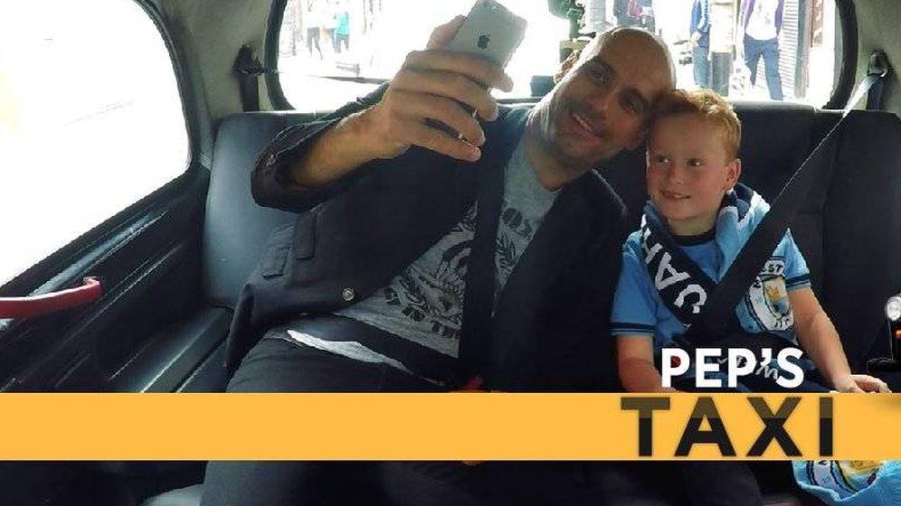 Foto: Imagen de Pep con el niño hincha del City