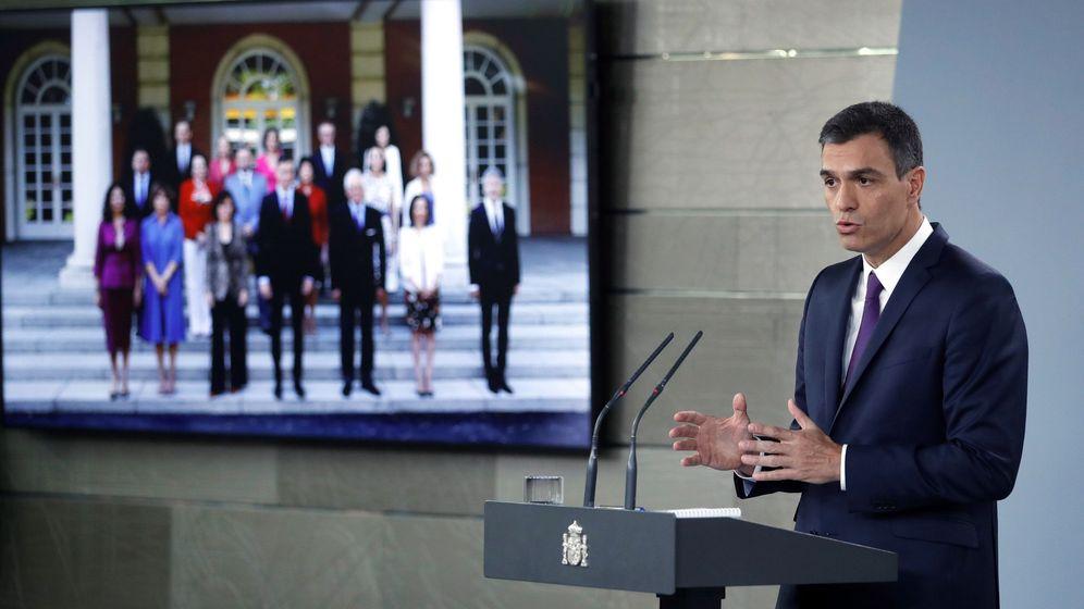 Foto: Pedro Sánchez hace balance de su gestión en el Ejecutivo. (EFE)