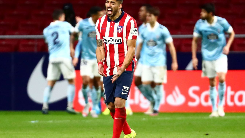 Suárez impone su ley 'ganaligas' y rescata a un Atlético en cuadro frente al Celta (2-2)