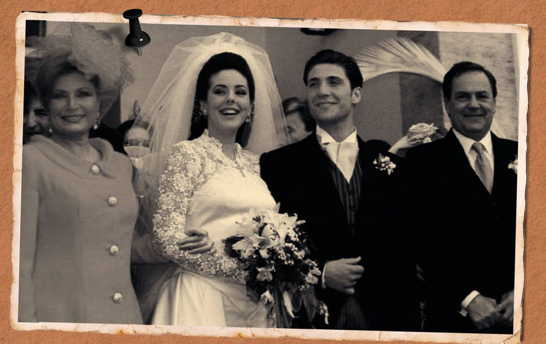 Foto: Rocío Carrasco, en su primera boda en un fotomontaje realizado por Vanitatis