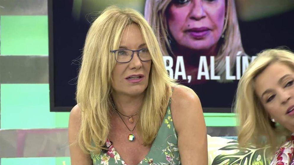 Foto: Belén Rodríguez, en 'Sálvame'. (Telecinco)