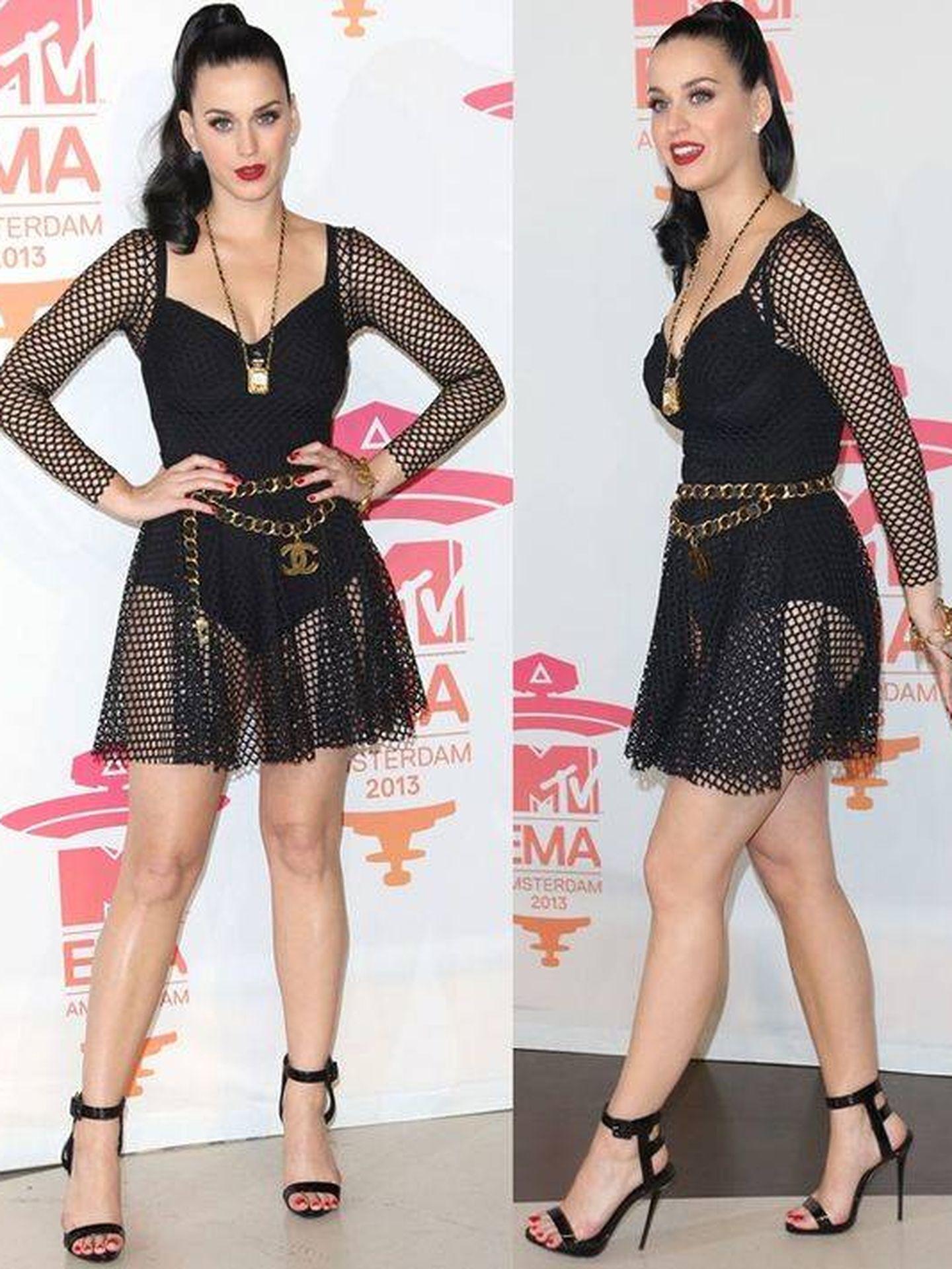 Aquí comenzó el éxito internacional de María Escoté, con Katy Perry luciendo uno de sus vestidos. (Pinterest)