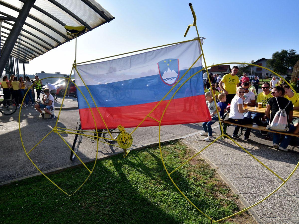 Foto: La bandera eslovena. (EFE)