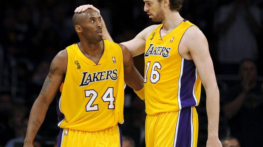 Foto: Kobe Bryant y Pau Gasol ganaron dos anillos juntos en Los Angeles Lakers. (EFE)