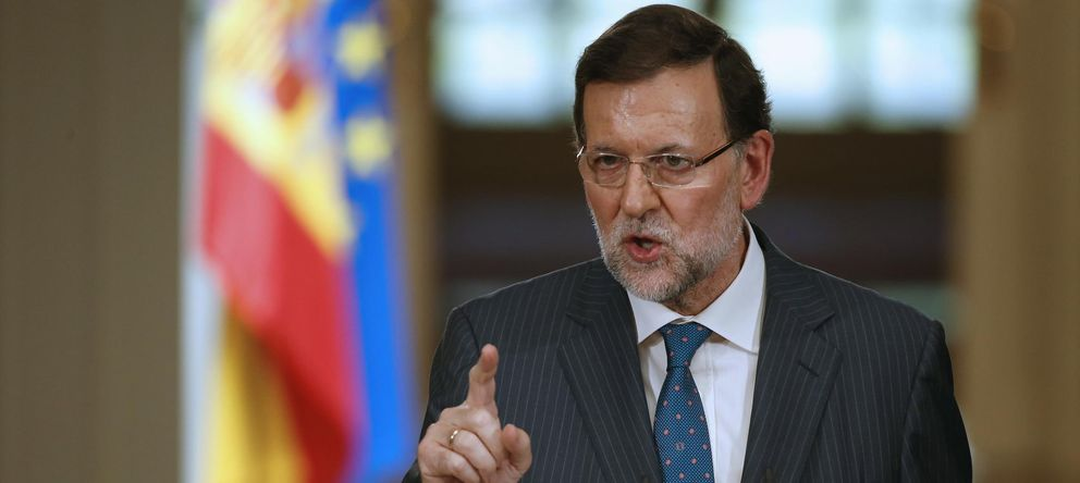 Foto: El presidente del Gobierno Mariano Rajoy durante la rueda de prensa (EFE)