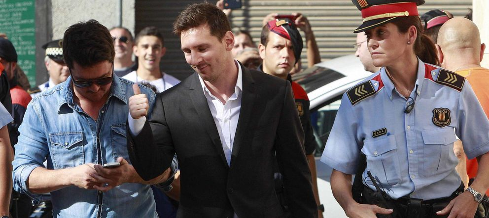 Foto: Fotografía de archivo de Leo Messi a su llegada al juzgado de Gavà. (EFE)