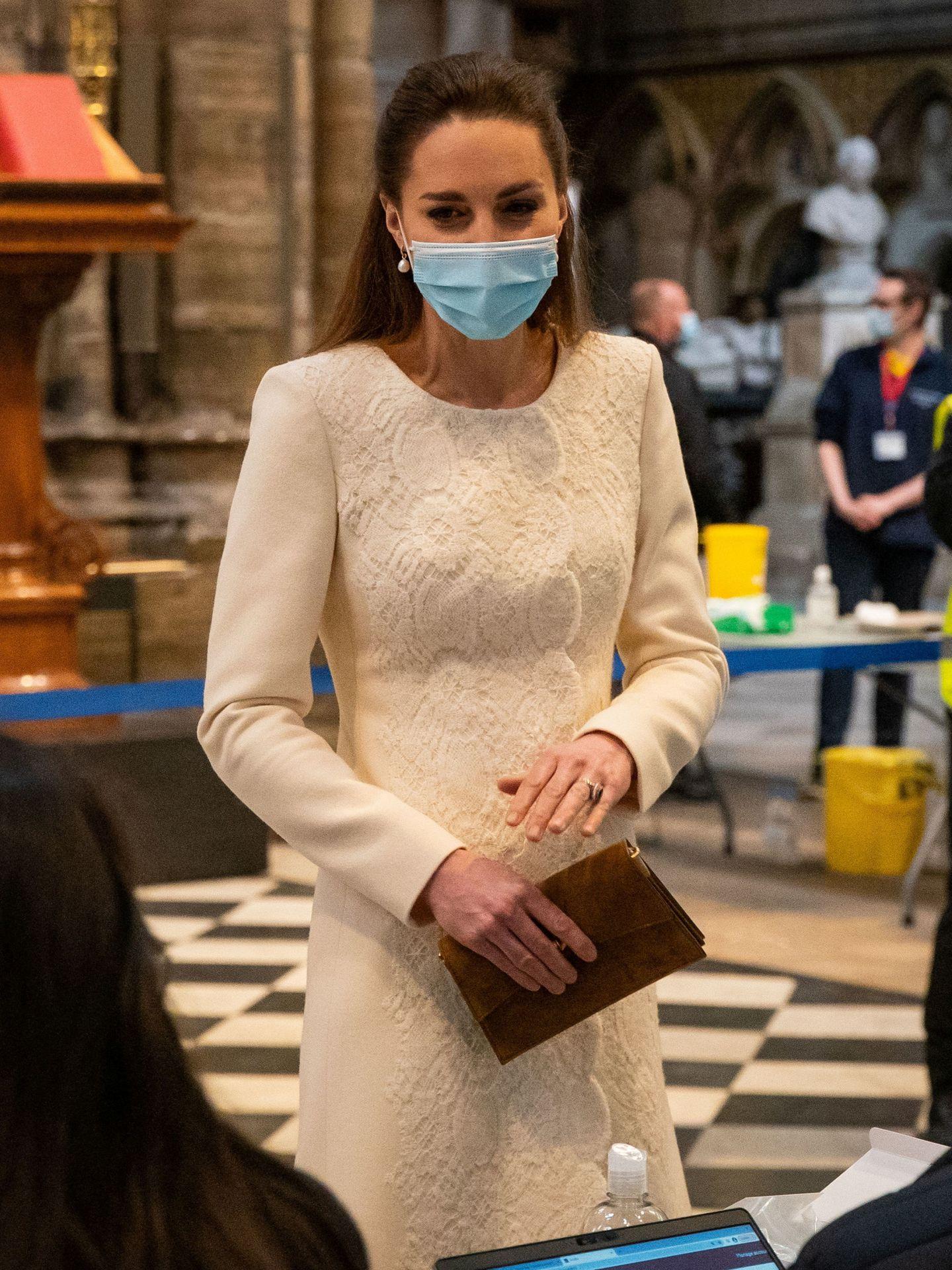 Kate Middleton, este martes en la abadía de Westminster. (Reuters)