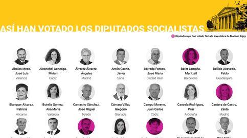 Así han votado los diputados socialistas en la sesión de investidura de Rajoy