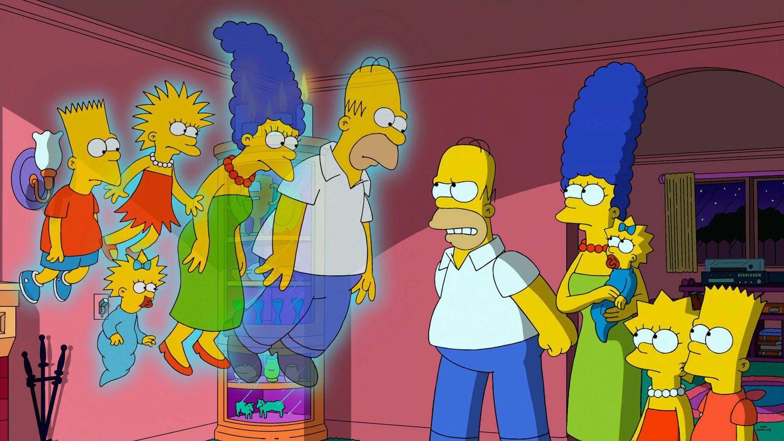 Foto: La familia Simpson se reencuentra con su pasado.