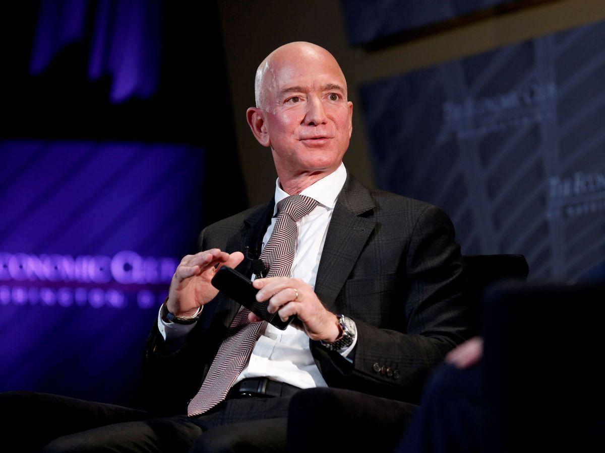 Foto: El CEO de Amazon, Jeff Bezos, en un acto en Washington. (EFE)
