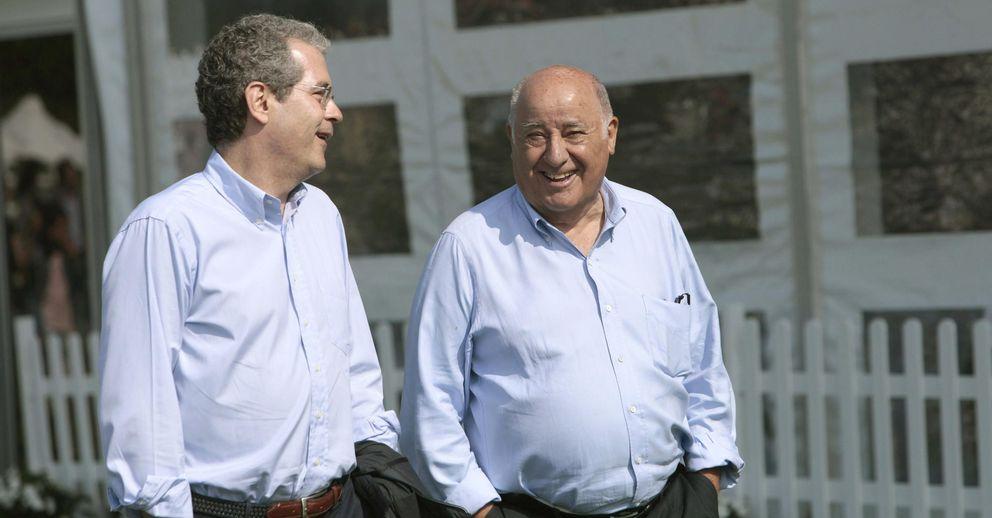 Foto: Amancio Ortega, junto a su sucesor Pablo Isla (EFE)