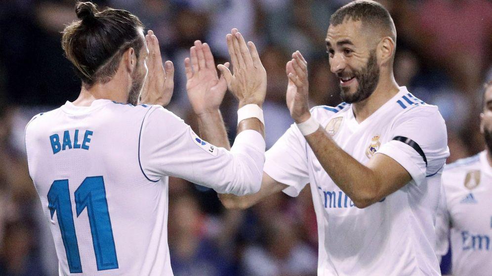 Foto: Bale y Benzema, siempre señalados. (EFE)