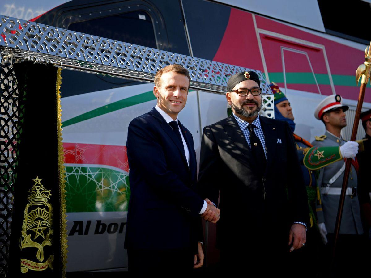 Foto: El presidente francés, Emmanuel Macron, junto al rey marroquí Mohamed VI. (Reuters)