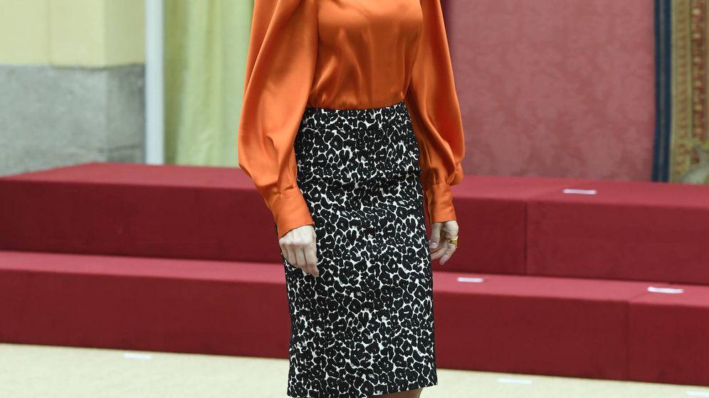 Foto: Doña Letizia, durante el acto de marca España. (Limited Pictures)