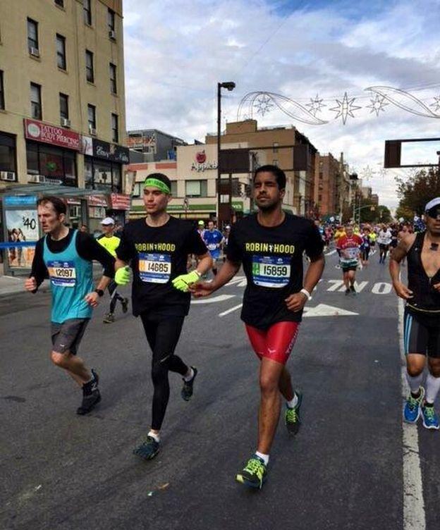 Foto: Enhamed y su compañero Pedro Jerez durante la Maratón de Nueva York (Foto: @Enhamed)